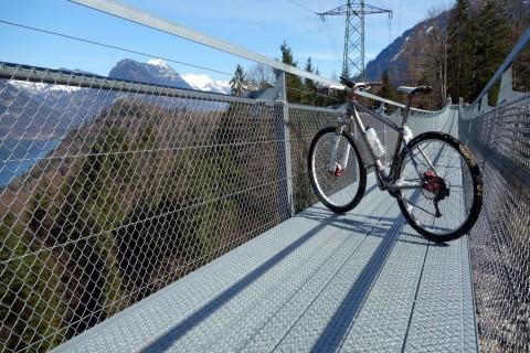 Hängebrücke Leissigen - mit Bike