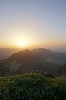 Röti Sonnenuntergang und HDR