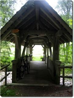 Veloholzbrücke bei Heidbüel