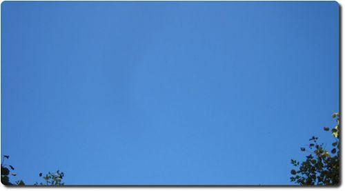 Blauer Himmel !
