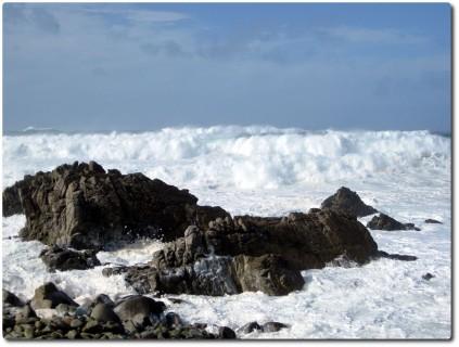 Riesenwellen am Ocean Drive