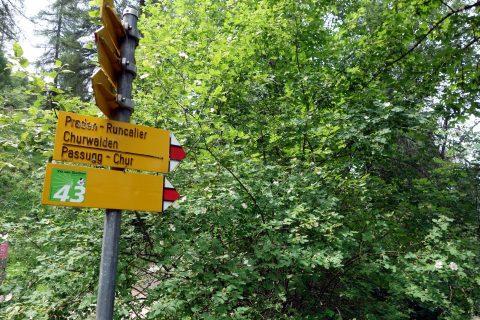 Trailabzweiger bei Höhi - lasst es sein!