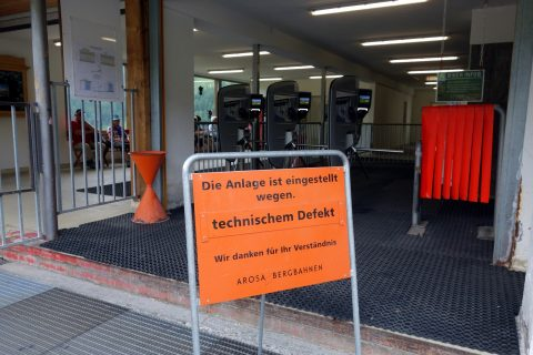 Hörnlibahn - Wegen zu geschlossen !
