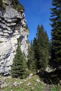 Trail und Kletterwand bei Hornmettlen