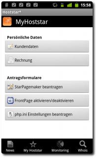 Screenshot Hoststar Android App