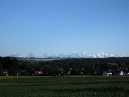 Tolles Alpenpanorama den ganzen Tag