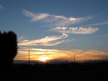 Der Sonnenuntergang kommt rasch...