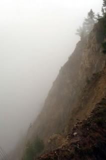 Illgraben - leider im Nebel