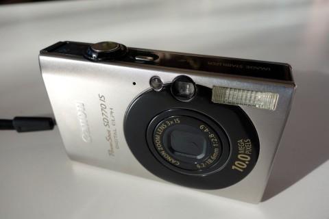 Canon IXUS 85 close