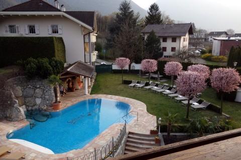 Balkonblick - Pool