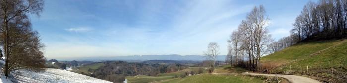 Panorama Juchten in Richtung Jura