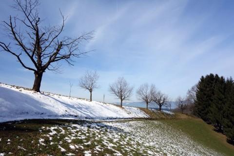 Letzter Schnee in Richtung Juchten