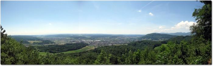 Panorama vom Känzeli am Engelberg
