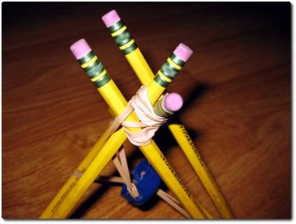 Wikinger Bleistift Katapult - Detailstudie
