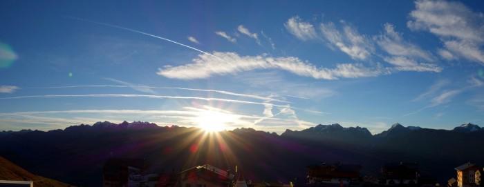 Panorama Sonnenaufgang Fiescheralp