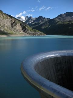 Lac de Moiry und Überlaufschacht