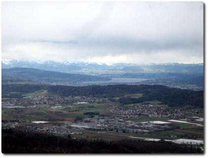 Lägeren Blick zum Zürichsee