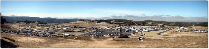 Panoramablick auf den tieferen Streckenteil von Laguna Seca