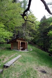 Hütte bei Le Tilly
