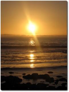Sonnenuntergang am Point Pinos beim Leuchthaus