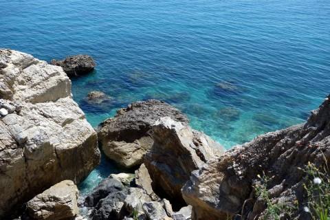 Blaue ligurische See
