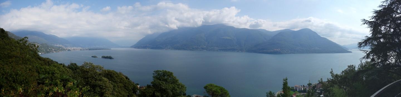 Panorama - Lago Maggiore Höhe Brissago
