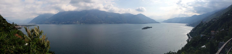 Panorama - Lago Maggiore Höhe Gruppaldo