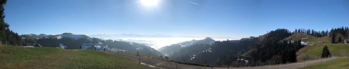Panorama Lüderenalp in Richtung Alpen