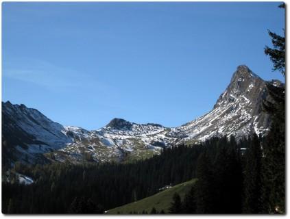Blick zurück auf der Maienfelder Alp
