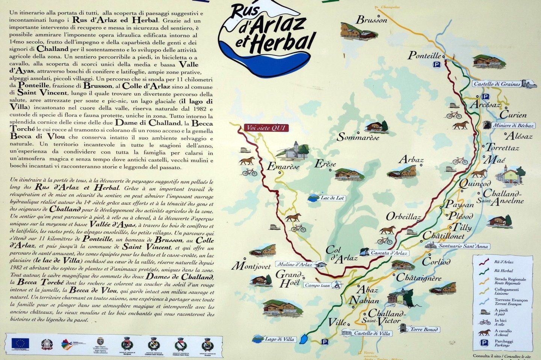 Karte Wanderung Ru d'Arlaz