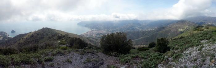 Monte Mao - Panorma Ost nach Spotorno