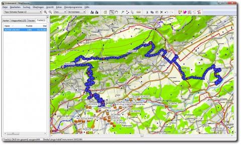 Garmin MapSource Benutzeroberfläche