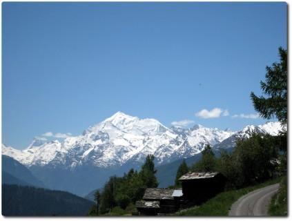Blick auf Viertausender und Matterhorn