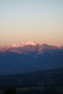Sonnenuntergang Mont-Blanc