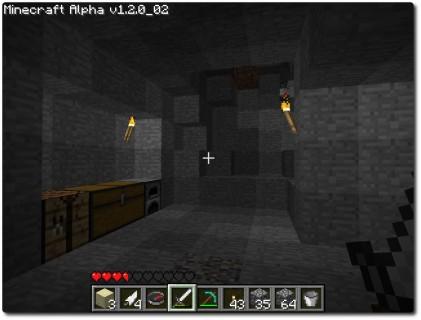 Minecraft - Vorratsraum in einer tiefen, gefährlichen Höhle