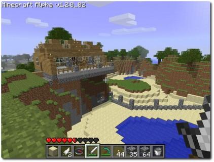 Minecraft - Mein schönes Haus über der idyllischen Bucht