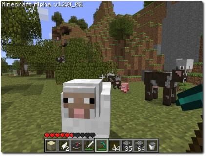 Minecraft - Tiere im Spiel - Schafe (Wolle), Kühe (Milch und Leder), Schweine (Fleisch)