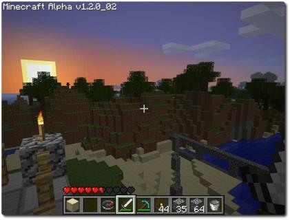 Minecraft - Morgensonne auf der Terasse