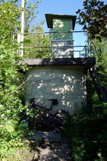 Wasserstandsanzeige Rhône