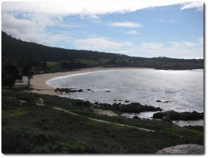 Blick auf die Monastery Bay