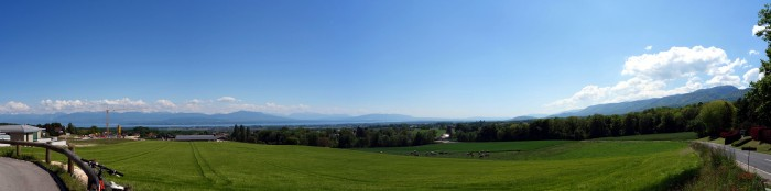 Panorama bei La Montau