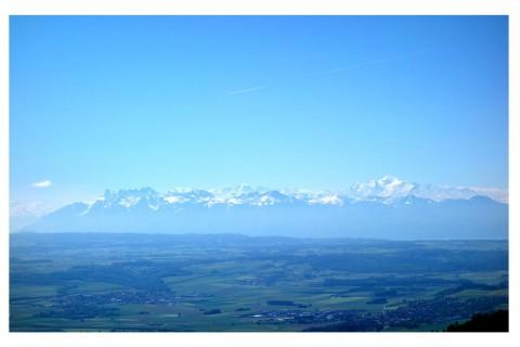 Mont Blanc ohne Wolken
