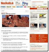 Screenshot MensHealth MTB Umfrage