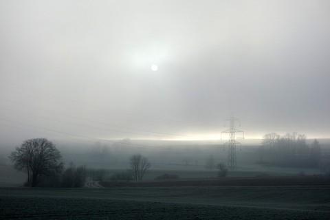 Nebel und Sonne bei Seeberg