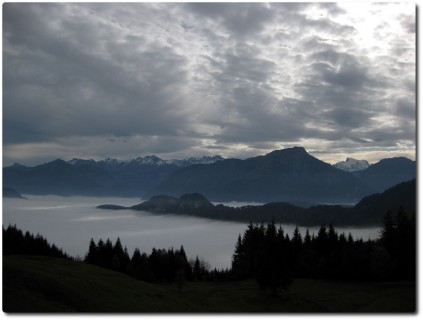 Blick auf das Nebelmeer