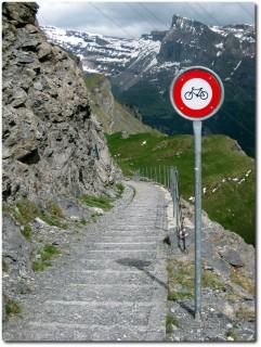 Bikeverbot in der Gemmiwand