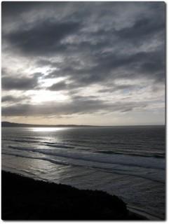 Monterey bei Sonnenuntergang im Gegenlicht