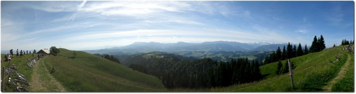 Panorama Ober Änzi in Richtung Süden