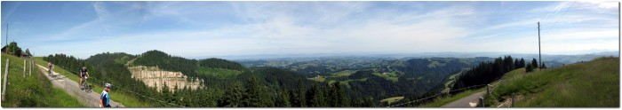 Panorama Ober Änzi in Richtung Norden