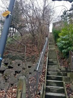 Eine Treppe hat es immer...